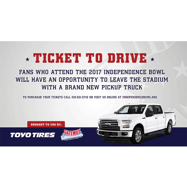 Independence Bowl Foundation Announces 'Ticket to Drive' Promotion