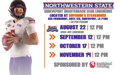 Independence Bowl/Northwestern State Annual Kickoff Luncheon Set for August 22